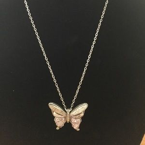 Beautiful Butterfly Necklace Matching Earrings